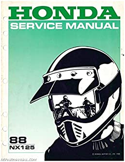 61ky700 1988 honda nx125 motorcycle repair workshop service manual rh amazon com