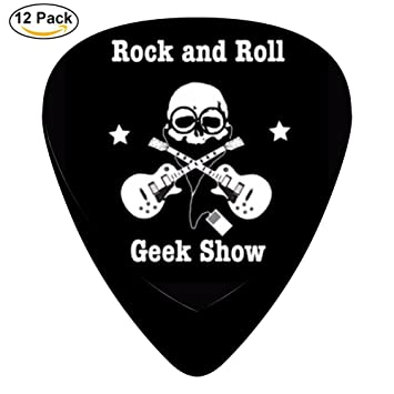 stremusic Geek Show de Rock N Roll guitarra eléctrica 12 púas de celuloide de graves Música