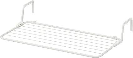 Ikea Etendoir A Linge Avec Crochets Pour Balcon Baignoire Blanc 77 X 40 49 Cm Amazon Fr Cuisine Maison