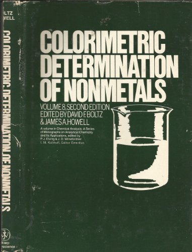 Colorimetric Determination of Nonmetals (Chemical analysis)