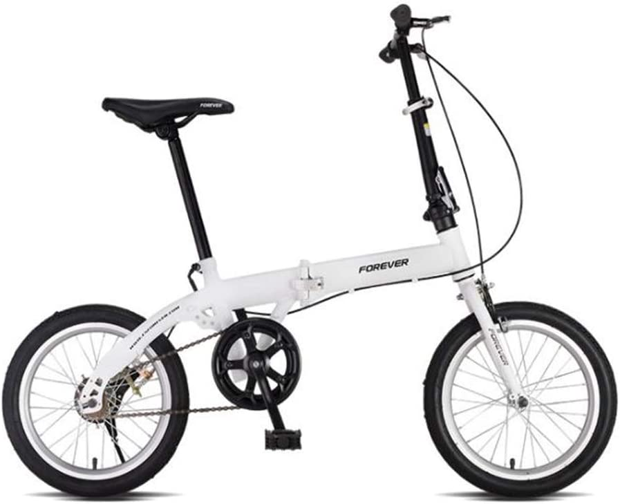 TX Bicicleta Plegable Rápida Portátil De 16 Pulgadas Pedales Ligeros Y Plegables para Mujer, Bicicleta Urbana para Estudiantes, Rueda De Radios,Blanco: Amazon.es: Deportes y aire libre