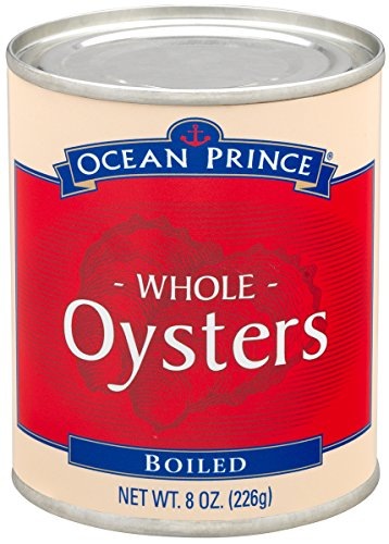 Ocean Prince Boiled Oysters, 8-Ounce Cans (Pack of (Whole Oysters)