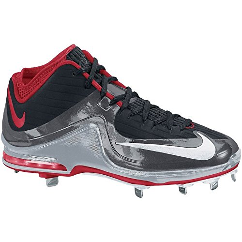 White Air Mid Men's Dark Elite NIKE University Max Grey Metal Baseball Cleats Black Red MVP vBnqA
