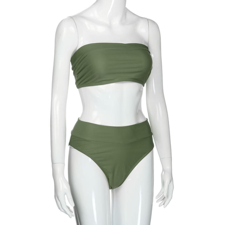 DEELIN Vendaje De Las Mujeres De Moda Bikini Sexy Push-Ups Espesan Sujetador Swim Bathing 2 Piezas Traje De BañO Color SóLido: Amazon.es: Ropa y accesorios