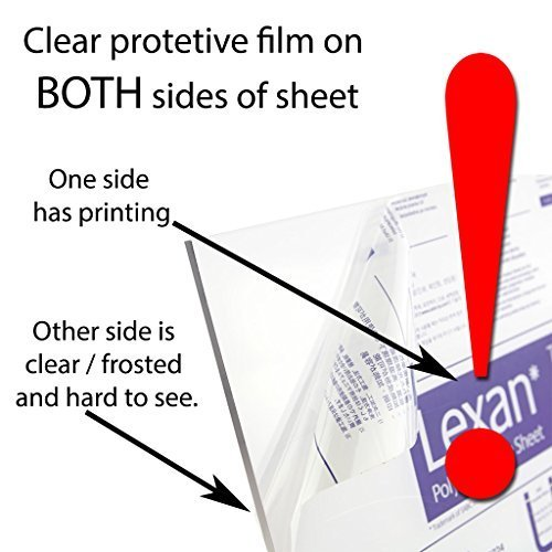 """1//32/"""" Thick .030/"""" Polycarbonate 12/"""" x 12/"""" Nominal Lexan Sheet Clear"""