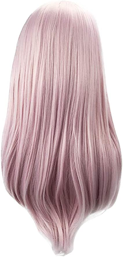 Peluca de cosplay de Barlingrock Anime, color rosa, suave ...