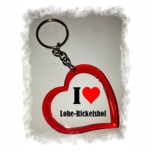 Idea: Heart Keyring I Love Lohe-Rickelshof, a Great gift that comes from