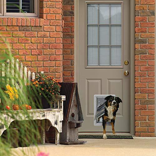 "Ideal Pet Products Designer Series Ruff-Weather Pet Door with Telescoping Frame, Medium, 7.25"" x 13"" Flap Size"