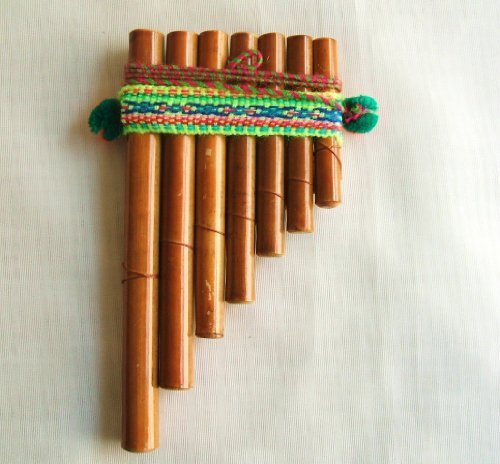 Peruvian Bamboo Flute Small Five X Three Inches