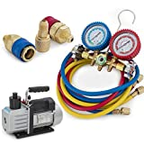 Kyпить ARKSEN R134a R12 R22 R502 Manifold Gauge & 5CFM 1/2HP Vacuum Pump 5ft HVAC Kit на Amazon.com