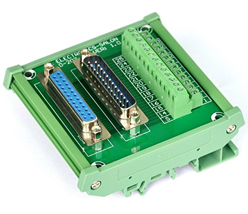 Electronics-Salon DB25 D-SUB DIN Rail Mount Interface Module, Male / Female, DSUB Breakout Board. (Male Db25 Db25 Female)