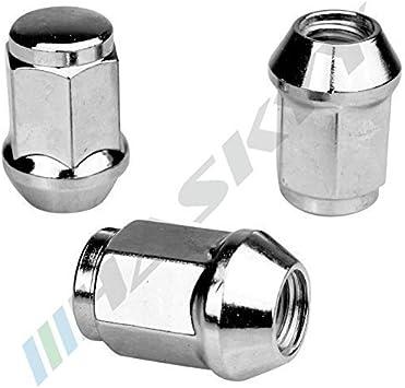 20 CHROM Radmutter Mutter M12x1,5x34 SW19 Kegelbund Kegel 60/° Alu Stahl Felgen