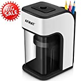 Electric Pencil Sharpener, Heavy Duty Pencil Sharpener with Built-in Pencil Holder, Fast Sharpen in 4 Seconds, Perfect for No.2 and Colored Pencils, School Home Office Use(Power Adapter Included)