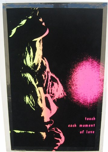 - 1970's Nude Woman Flocked Hippie Neon Blacklight Vintage 1960s Authentic Original Poster 27