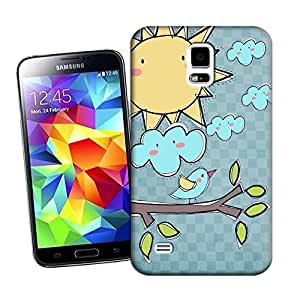 Cartoon birds and sun By Z-Design Beautiful Personality& Creative TPU Hard Case Cover for Samsung Galaxy S5 I9500