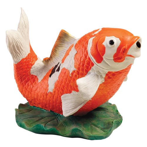 Design Toscano Kohaku Asian Koi Piped Spitter Statue by Design Toscano