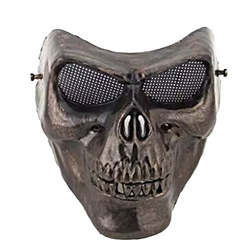Elibeauty Halloween Skull Mask, Halloween Cosplay Costume Facemask Scary Man or Women Mask for CS War BB Game (Best Tasteless Halloween Costumes)