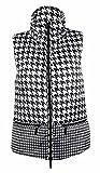 MICHAEL Michael Kors Women's Houndstooth Puffer Vest (XS, Ecru)