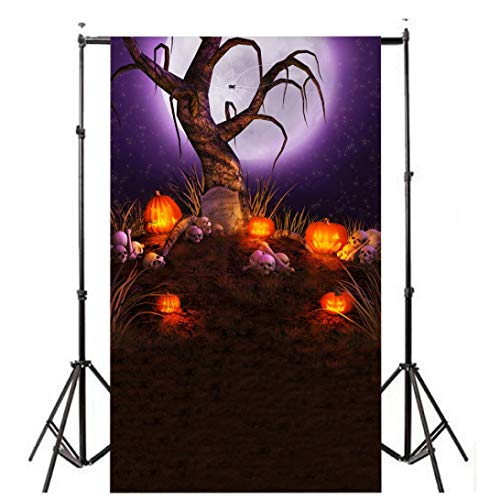 MatureGirl Photo Video Photography Studio Halloween Backdrops Pumpkin Vinyl 3x5FT Lantern Background Screen Photography Studio (P) -