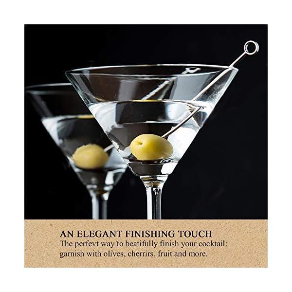 GCOA 20 Pezzi Bastoncini da Cocktail, Cocktail Picks in Acciaio Inox Bastoncini da Frutta per Catering, Banchetti… 5 spesavip