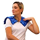 Nature Creation- Neck & Shoulder Wrap - Natural and Reusable Herbal Heating Pad - Warm Up (Blue Flowers)