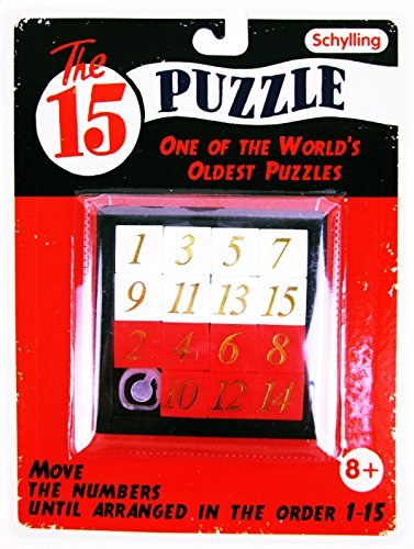 CHS 15 FIFTEEN PUZZLE Number Slide Sliding Brain Teaser Classic IQ Test Toy Game For Ages 8+