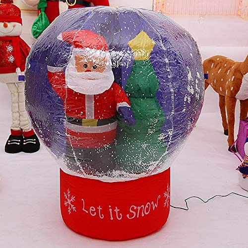 StrongLife Inflatable Bouncers - 60cm/100cm Giant Santa Claus Christmas Tree Snow Globe Inflatable LED Toys Yard Outdoor Blow Up Decoration Christmas Party Prop 1 PCs