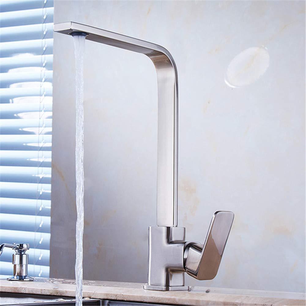 Waschbecken verchromt messing wasserhahn chrom messing deck küche waschbecken wasserhahn Höhe bogen 360 grad swivel kalt heißer mischer wasserhahn