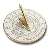 Looking For The Best 1st Wedding Anniversary Gift? This Unique Sundial Gift Idea Is A Great Present For Him, For Her Or For A Couple To Celebrate Their First Year Of Marriage