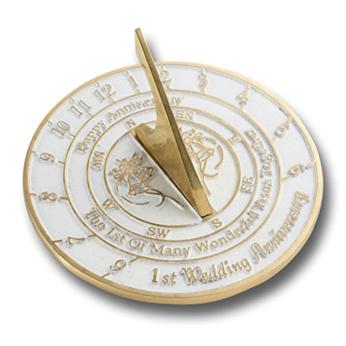 Looking For The Best 1st Wedding Anniversary Gift? This Unique Sundial Gift Idea Is A Great Present For Him, For Her Or For A Couple To Celebrate Their First Year (50th Anniversary Clocks)