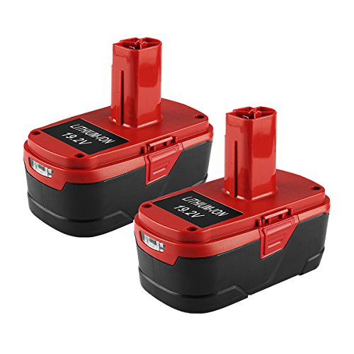 Energup 2Pack 19.2V 4.0Ah High Capacity Replacement Lithium Ion Battery for Craftsman Model 5166 by Energup