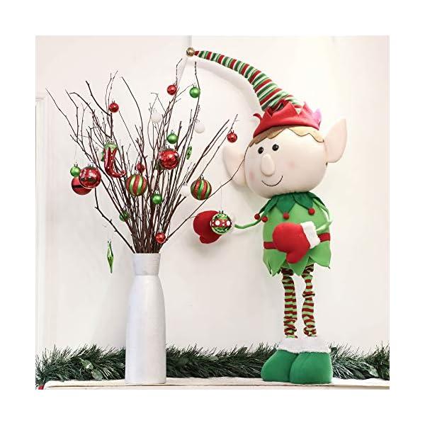 Victor's Workshop Addobbi Natalizi 70 Pezzi di Addobbi Natalizi per Albero, 3-8 cm Delizioso Elfo Infrangibile Ornamenti di Palla di Natale Decorazione per la Decorazione Dell'Albero di Natale 5 spesavip