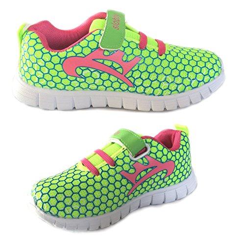 Slobby Kinder Sportschuh Sneaker Freizeitschuh veschiedene Farben NEU Gelb / Rosa 33