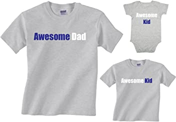 1651ea19d2 Matching Awesome Dad or Kid Father Son Shirts