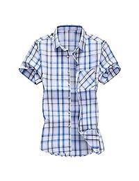 Turn Down Collar Shirts for Men,Fashion Slim Loose Hawaii Short Sleeve Printed T-Shirt Tops