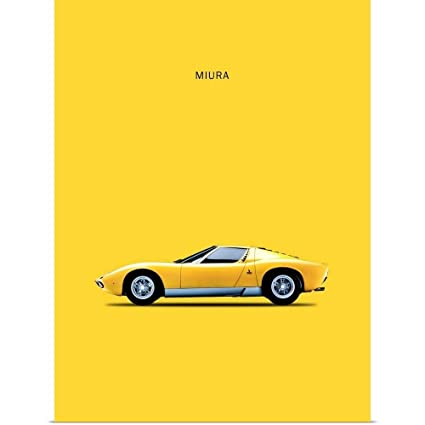 Amazon Com Greatbigcanvas Poster Print Entitled Lambo Miura 72 By