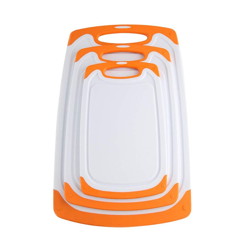 utensile da cucina Arancione AchidistviQ Set di 3 taglieri multifunzionali per tagliare frutta e verdura