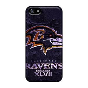 High Grade DaimiMall Flexible Tpu Case For Iphone 5/5s - Super Bowl 2013 Baltimore Ravens
