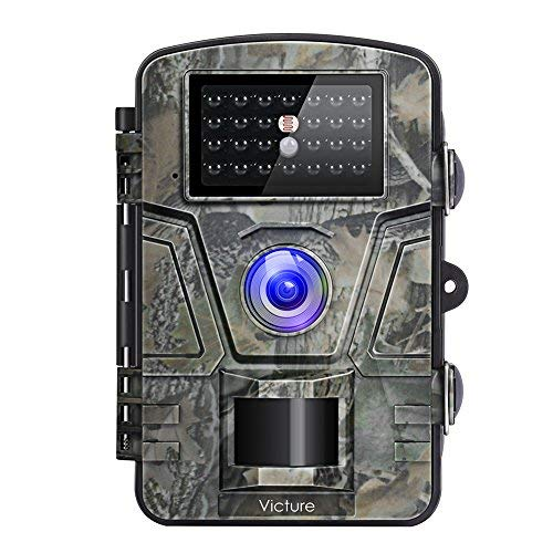 Victure Cámara de Caza Vigilancia 12MP 1080P IP66 Impermeable PIR Sensor de Movimiento Visión Nocturna 90 Angular para Fauna Seguridad Hogar Mascota Animal