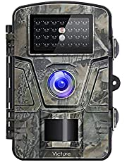 Victure Wildlife Camera with Infrared Night Vision 120°Wide Angle Motion Activated 12MP 1080P Full HD for Outdoor Nature Garden Home Security Surveillance