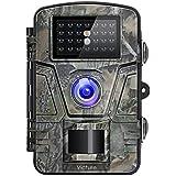 Victure Fotocamera de Caccia 12MP 1080P Fototrappola Infrarossi Invisibili Movimento Attivato 0.5s a Scatto Modalita' Notturna con 2.4 Pollici Schermo LCD Impermeabile IP66 Camera per la Caccia