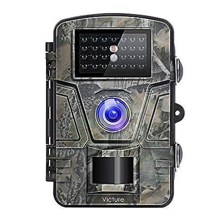Victure Wildlife Kamera 1080P 12MP Trail Game Kamera, bewegungsaktiviert, Nachtsicht, 20 m mit 6,4 cm LCD-Display, IP66, wass
