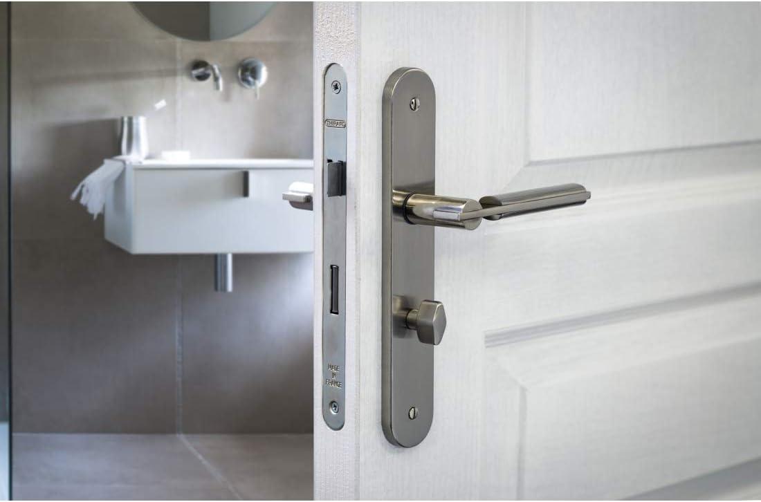 Thirard - Cerradura empotrable con condena z/br para puerta sdb/wc: Amazon.es: Bricolaje y herramientas