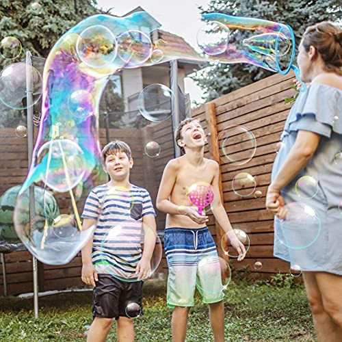 LovesTown 41 PCS Bubble Wands Set, Colorful Bubble Wands Toys Bubble Maker Wands Bubble Games for Kids Outdoor Activities
