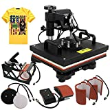 ZENY Heat Press 12''x15'' Pro 6 in 1 Combo Heat Press Machine Digital Multifunction Transfer Sublimation T-Shirt/Mug/Hat/Plate