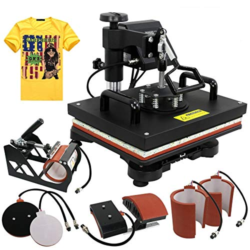 ZENY Heat Press 12''x15'' Pro 6 in 1 Combo Heat Press Machine Digital Multifunction Transfer Sublimation T-shirt / Mug / Hat / Plate