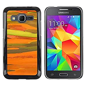 Paccase / SLIM PC / Aliminium Casa Carcasa Funda Case Cover para - Yellow Sun Abstract Desert - Samsung Galaxy Core Prime SM-G360