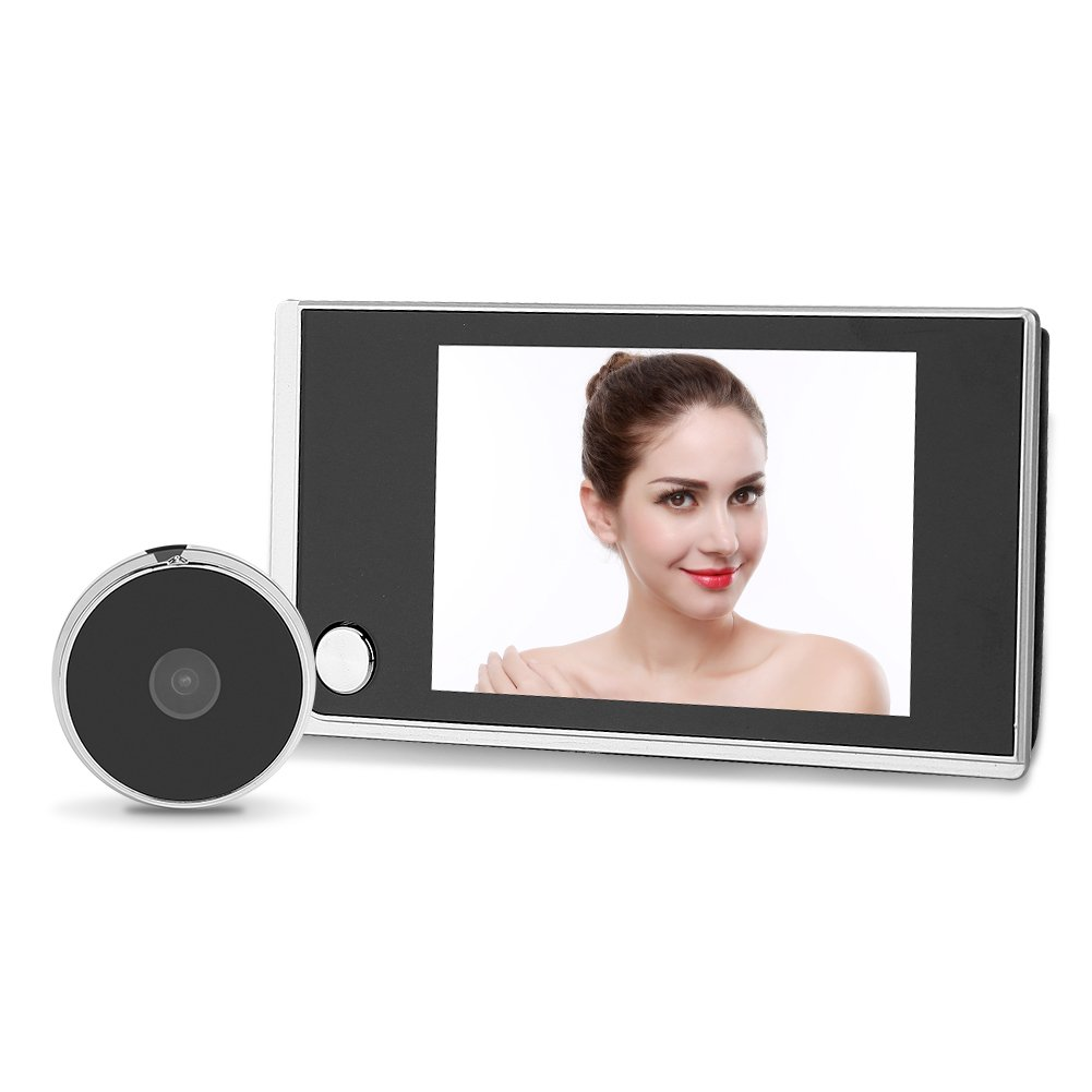 Zerodis 3.5'' Digital Door Viewer Security Peephole 120 Degrees Wide Angle LCD Color Screen Camera Doorbell with Photo Shooting and Automatic Alarm