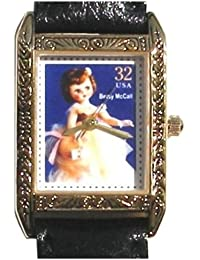 """Betsy McCall"" Is Featured on the Dial of the Polished Gold Tone Limited Edition Watch No. 504 From the Classic American Dolls Postage Stamp Watch Collection Produced in 1997"