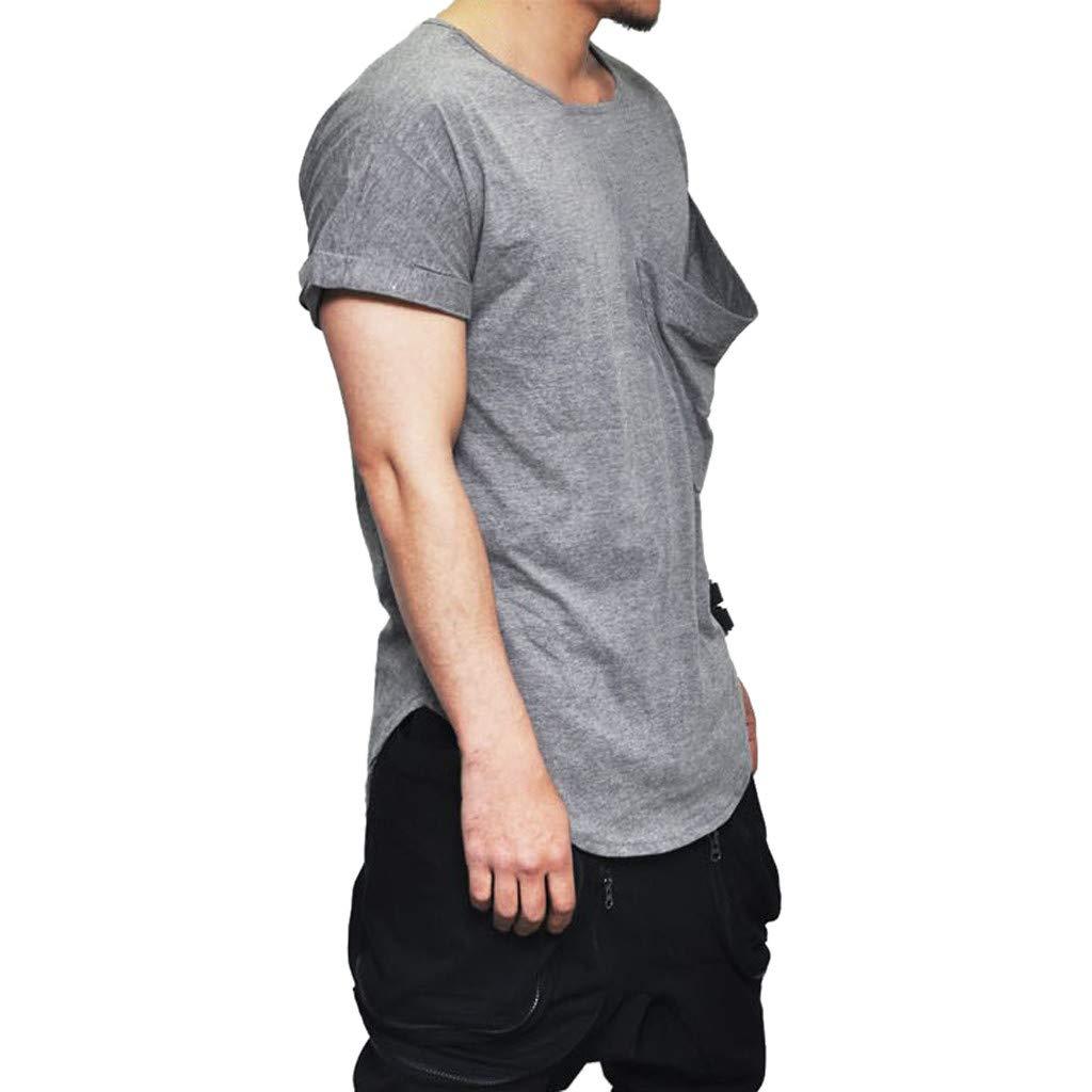 Giulot Mens Workwear Midweight Jersey Short Sleeve Pockets T-Shirt
